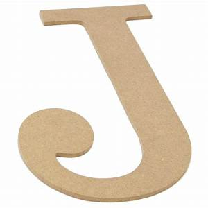 10quot decorative wood letter j ab2034 craftoutletcom With wooden letter j