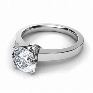 Novo solitaire diamond engagement ring for Wedding rings to go with solitaire engagement ring