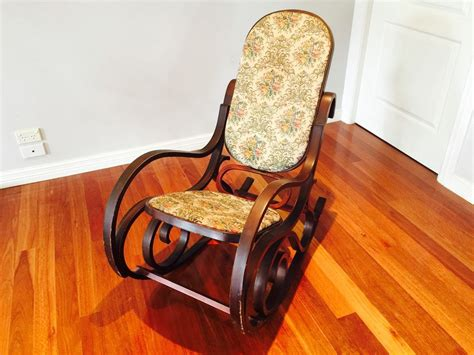 ebay rocking chairs australia vintage collectable bentwood rocking chair furniture ebay