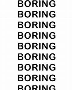 MI VIDA: BORING