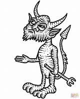 Coloring Devil Pages Little sketch template