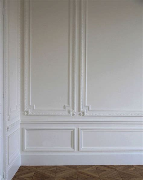 White Chair Rail classic architectural wall embellishments featuring