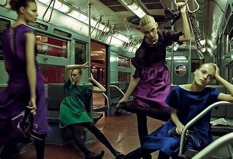 subway cart fashion shoots alberta ferretti fall campaign