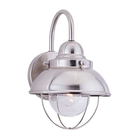 shop sea gull lighting sebring 11 25 in h brushed