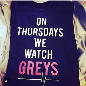 On Thursday's We Watch Greys Anatomy Black T shirt   wish ...