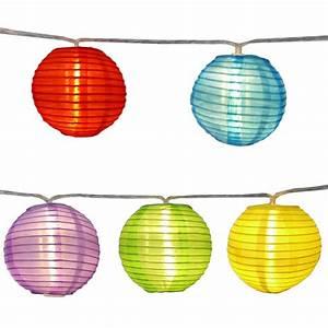 Lampions Mit Led : lampion lichterkette bunt outdoor ~ Watch28wear.com Haus und Dekorationen