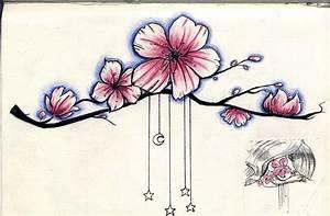 Tatouage Arbre Japonais : fleurs de cerisier tatouage noir et blanc ~ Melissatoandfro.com Idées de Décoration