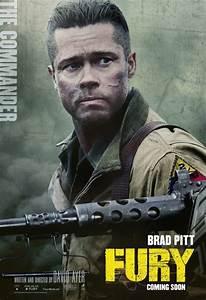 Fury: cinque character poster del film con Brad Pitt ...