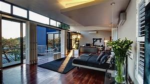 Modern, Bedroom, With, An, Amazing, View, Wallpaper