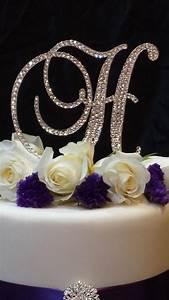 letter h swarovski crystal monogram cake topper wedding With cake topper letter h