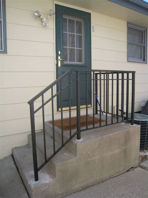 Shop stair railing kits and a variety of building supplies products online at lowes.com. Exterior Step Railings - O'Brien Ornamental Iron