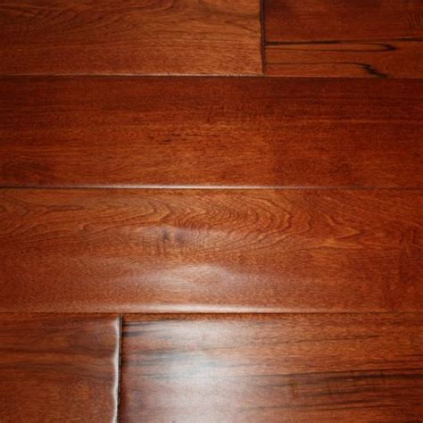 "Maple Red Mahogany 3/4 x 4 3/4"" Hand Scraped   Solid"