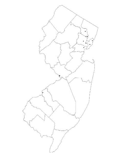 jersey map template   templates   word