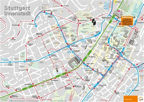 stuttgart on map stuttgart city center map