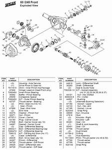 Front Axle And Differential Exploded View Diagram Pictures