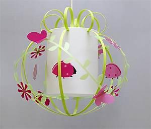 Suspension Chambre Enfant : suspension enfant coccinelle rose fabrique casse noisette ~ Melissatoandfro.com Idées de Décoration