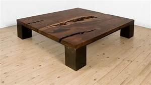 Table Basse Bois Foncé : la table basse design pour une d co de salon r ussie ~ Teatrodelosmanantiales.com Idées de Décoration