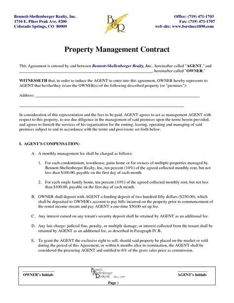 property management agreement  property maintenance