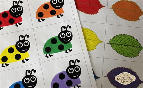 Bug Color Matching (printable)