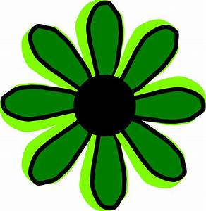 Green Flower 2 Clip Art at Clker.com - vector clip art ...