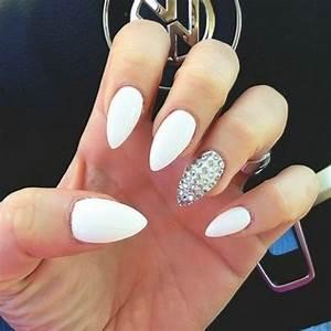 70+ Unique Nail Design Ideas 2017 | White stiletto nails