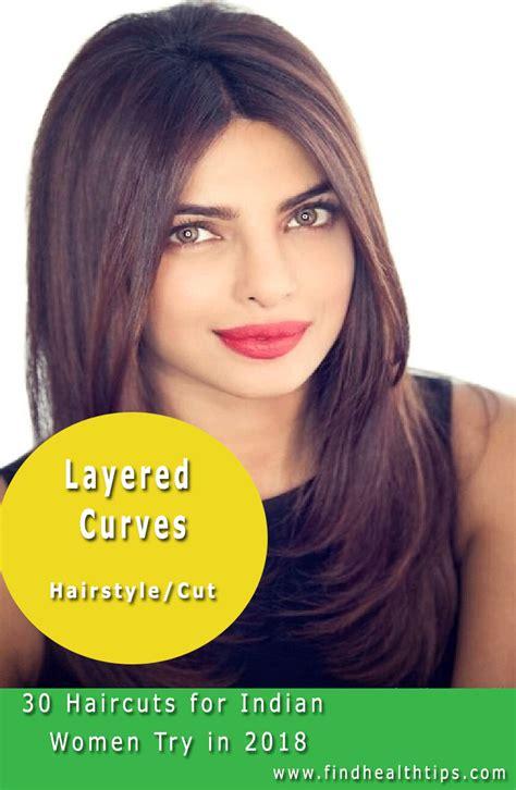 layered curves haircuts  indian women  hair
