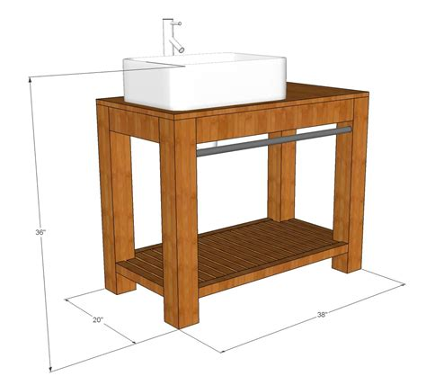 Rustic Bathroom Vanity Plans Modern Farmhouse Bathroom Vanity Tutorial Decor And The