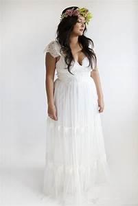 Garden wedding dresses plus size bohemian wedding dresses for Bohemian beach style wedding dresses