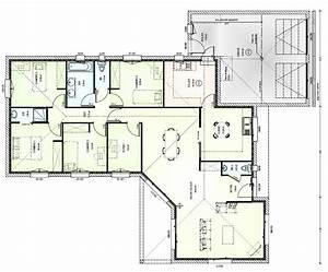 Maison 120m2 Plain Pied : maison plain pied 180m2 ~ Melissatoandfro.com Idées de Décoration