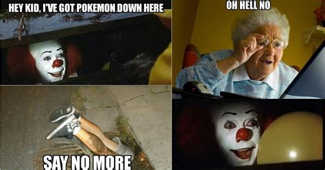 hilarious pennywise  clown memes