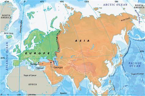 карта на света с континентите и океаните
