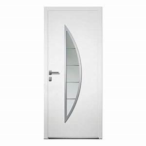 porte d39entree alu lea blanc castorama With porte d entrée alu blanc