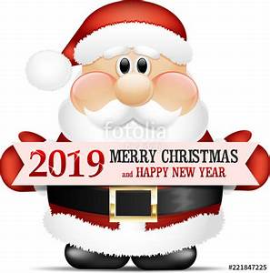 Quot2019 Merry Christmas And Happy New Year Santa Claus