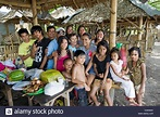 Large extended family portrait in Luzon, Philippines Stock ...