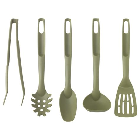 Speciell 5piece Kitchen Utensil Set Dark Green Ikea