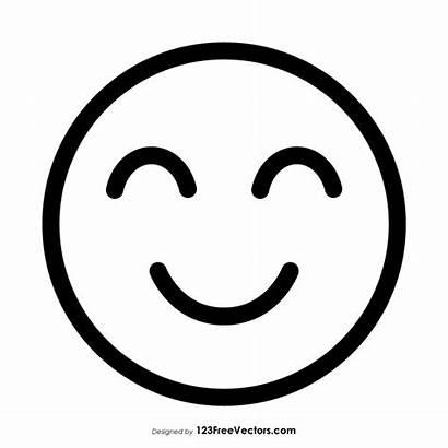 Outline Emoji Face Smiling Slightly Smile 123freevectors