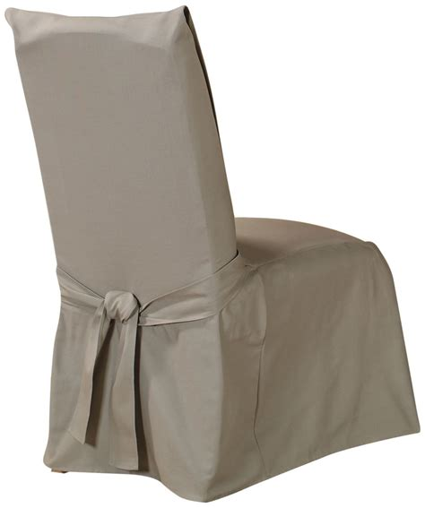 linen dining chair covers sure fit cotton duck long dining room chair cover linen