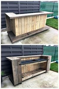 Bar Aus Holzpaletten : 40 clever ways to reinvent wooden pallets theken bar und europalette ~ Sanjose-hotels-ca.com Haus und Dekorationen