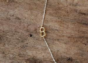 sideways initial necklace initial necklace monogram name With custom letter chains