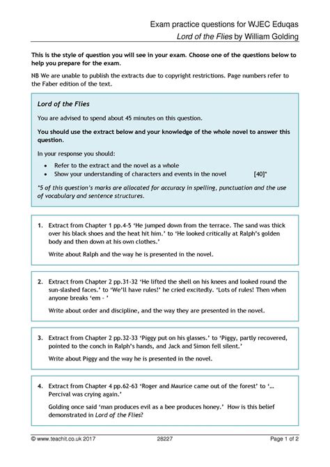 usable lord of the flies chapter 1 worksheet goodsnyc