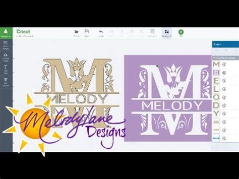 split letter monogram  slice  cricut design space part  youtube