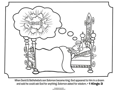 King Solomon Bible Coloring Pages Whats In The Bible