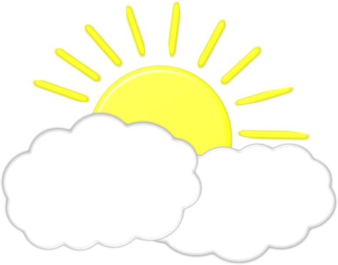 clouds  sun clipart  clip art