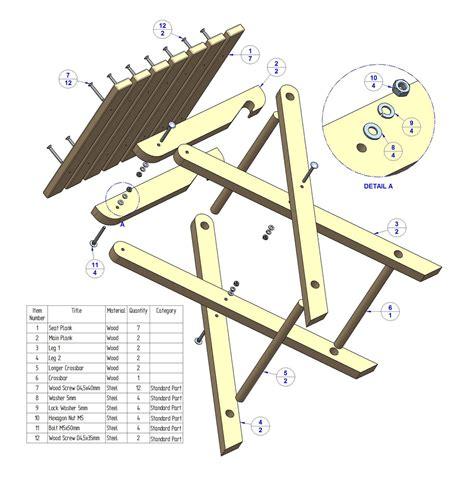 folding stool plan