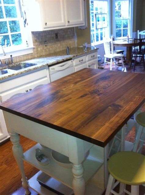 black walnut wood countertops traditional kitchen