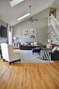 dark bamboo flooring family room gray walls With wall paint colors for light wood floors