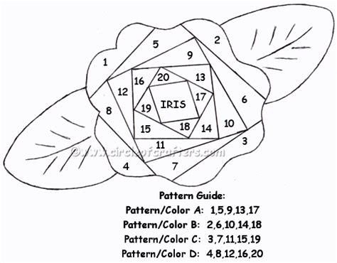 rose irisfolding template visit    personal blog