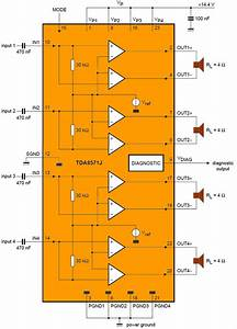 Car 4x40w Amplifier Circuit With Tda8571j