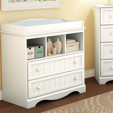 south shore changing table south shore handover changing table in white finish 3580330