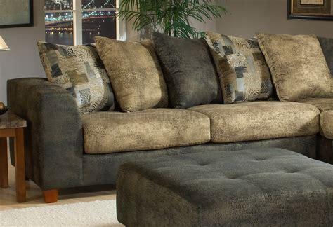 tone kalahari ash fabric modern sectional sofa wottoman